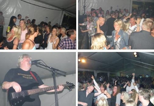 Publiken dansade loss när Just4Fun spelade