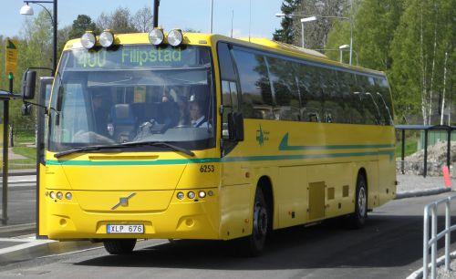 Bussen som tog oss till Molkom