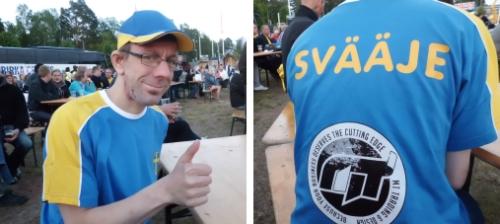 Jag på fotboll. Hejja Sväjje!!!