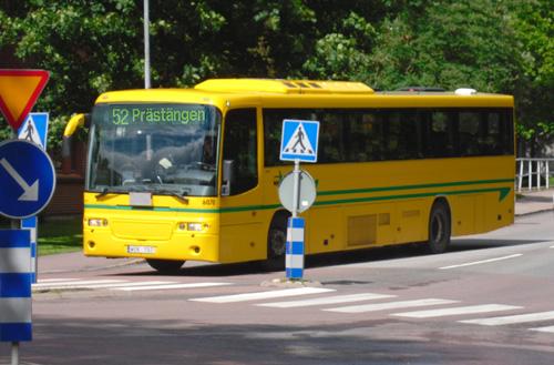 Buss nummer 52 mot Prästängen