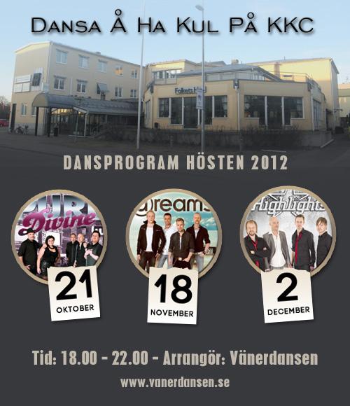 Dansprogram för Vänerdansen 2012
