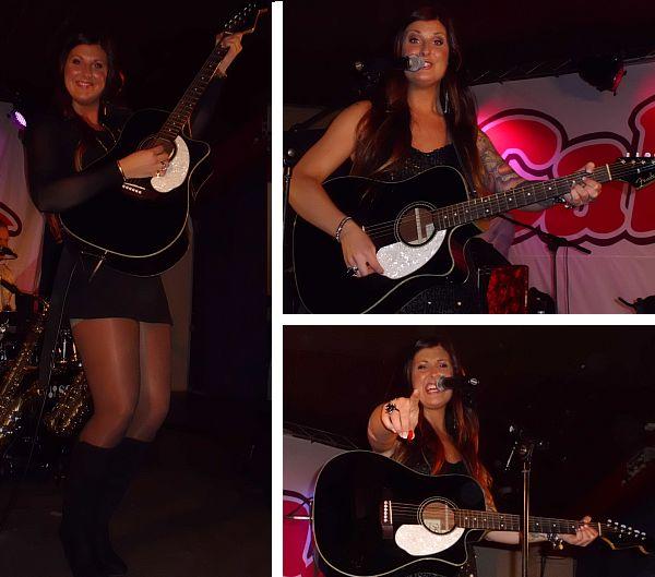 Carloina med sin gitarr
