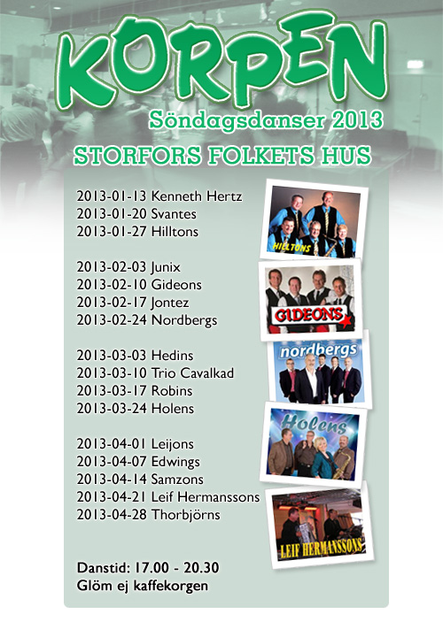Korpens motionsdanser 2013