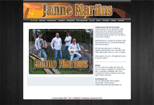 Janne Martins med ny hemsida