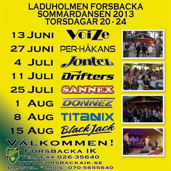 Danser på Laduholmen Forsbacka 2013