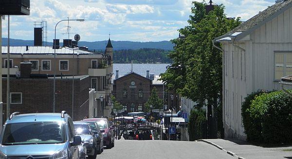 Utsikt över Arvika och Glafsfjorden