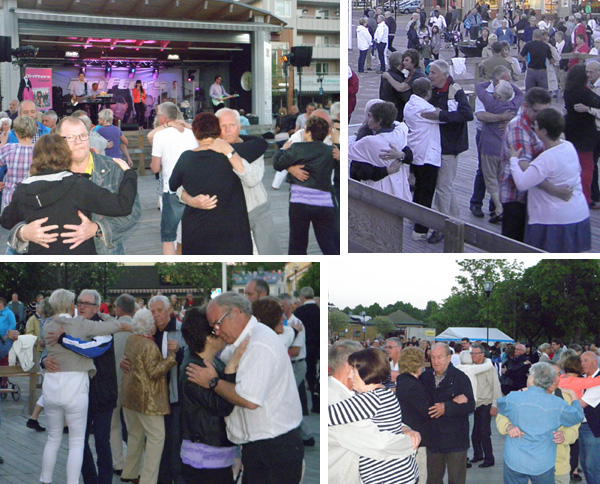 Danspublik på torget Filipstad