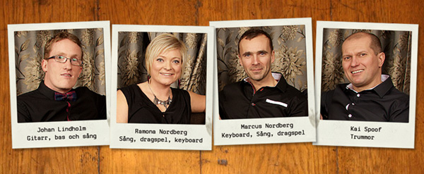 Medlemmarna i Högtryck med Ramona