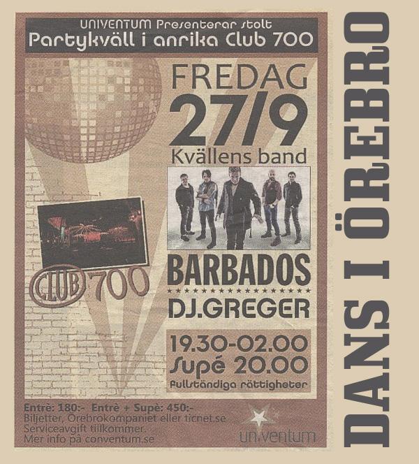 Dans på Clubb 700 i Örebro