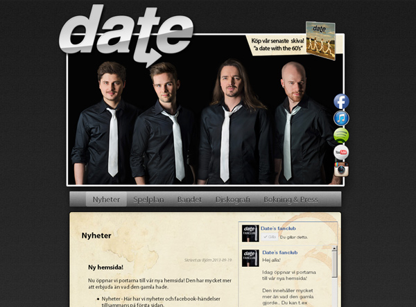 Date med ny hemsida