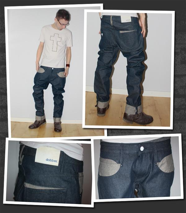Dobber jeans från deras provkollektion
