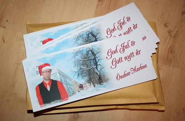 Skickat julkort idag