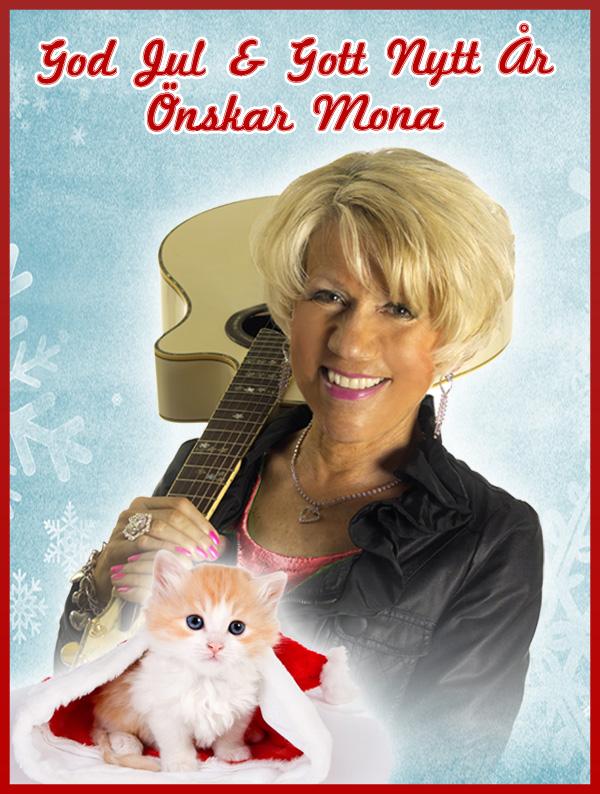 Julkort från Mona G