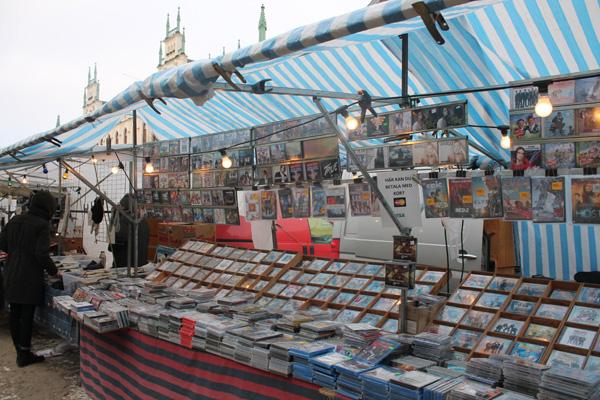 En massa cd-skivor