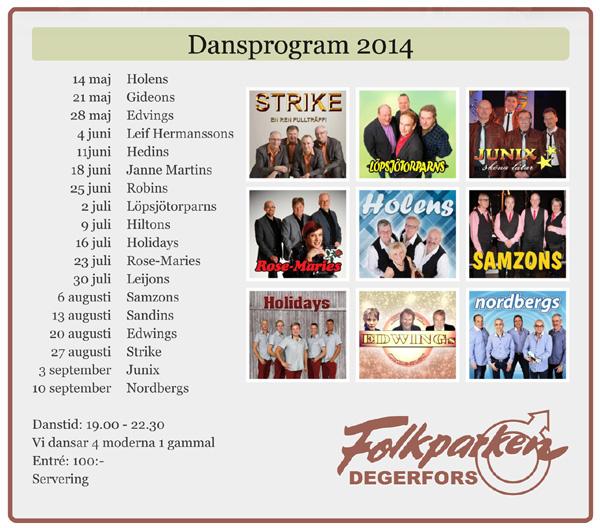 Program för Folkparken Degerfors 2014