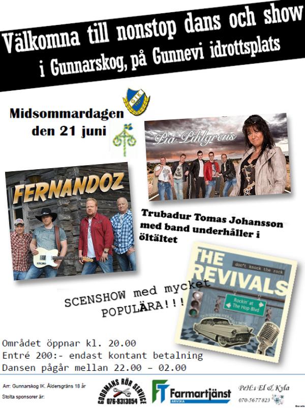 Dansfest på Gunnevi på midsommardagen