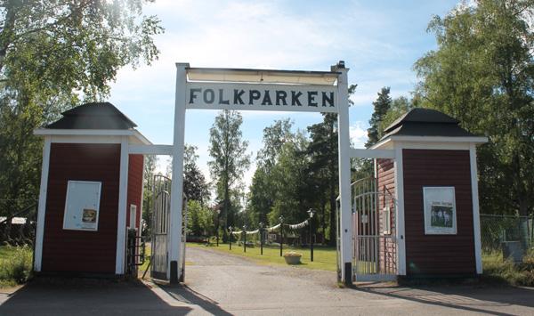 Vackra entrén till Folkets Park Degerfors