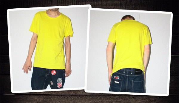 En cool gul t-shirt. Perfekt i sommar