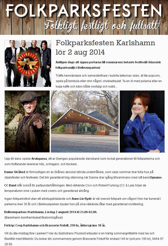 Dags för Folkparksfesten 2014