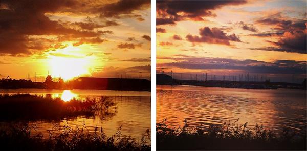 Solnedgång vid Karlsholme Folkets Park