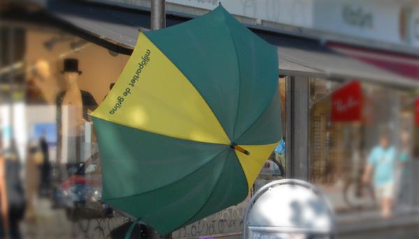Miljövänlig valstuga? Ett enkelt paraply