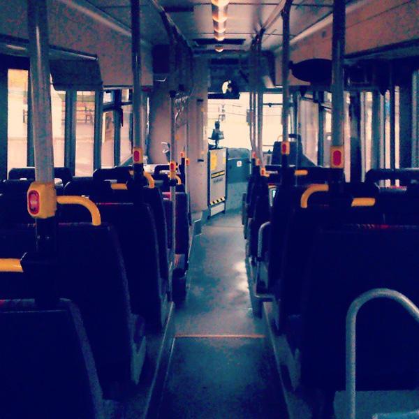 Morgonrusning på lokaltrafiken i Kristinehamn