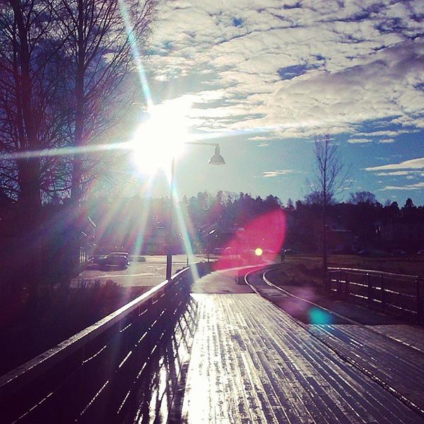 Solen visade sig idag