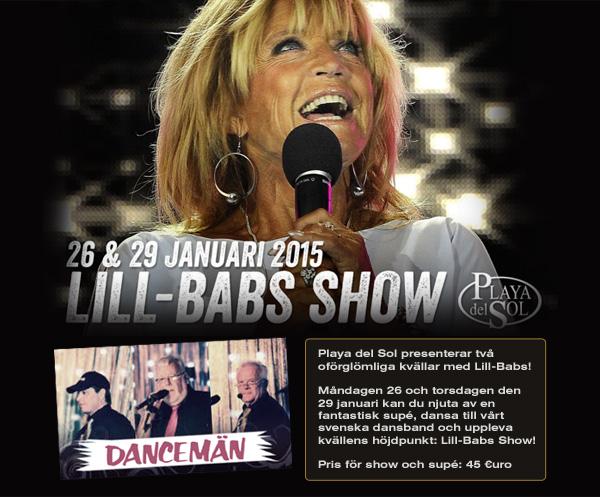 Lill-Babs showar på Playa Del Sol
