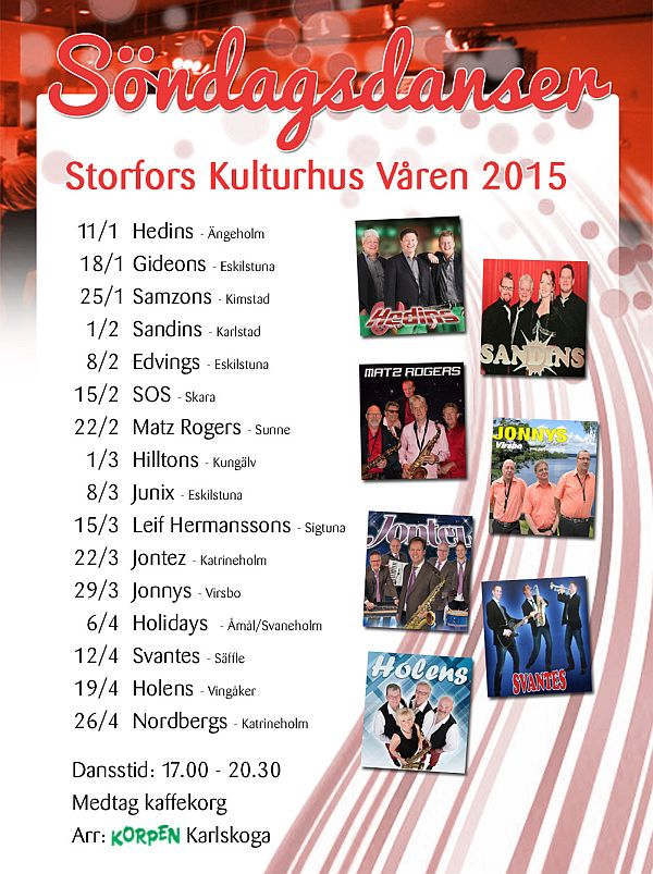 Korpens motionsdanser i Storfors 2015