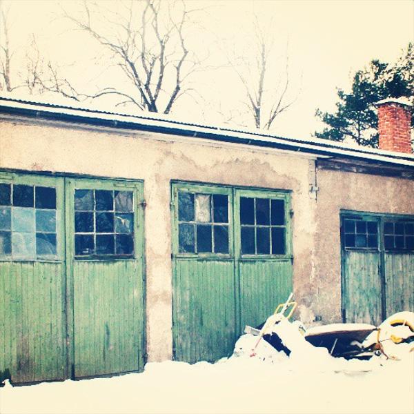 Garagebyggnad i Åtorp