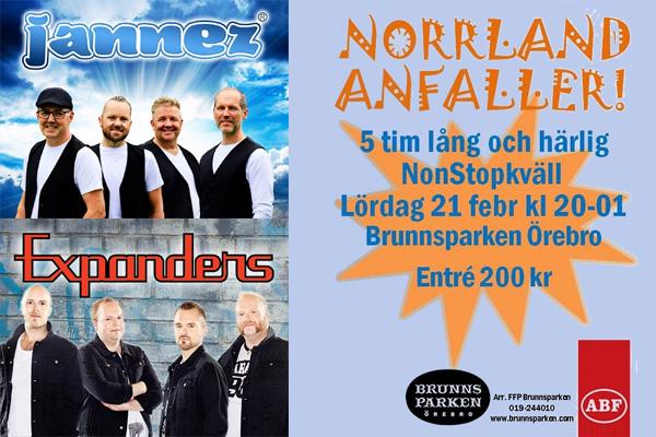 Norrlandsbanden anfaller Brunnsparken Örebro