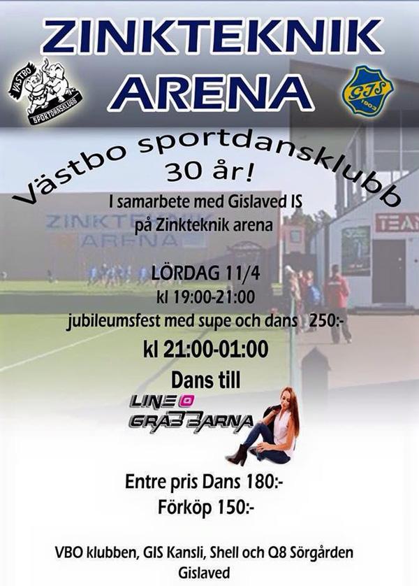 Dans med Line & Grabbarna med Zinkteknik Arena