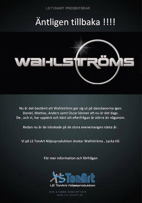 wahlstromscomback